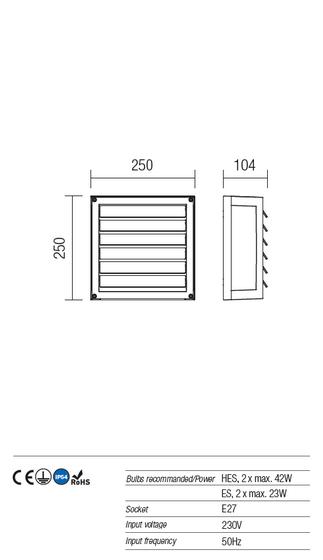 Redo Brick 9894 kültéri modern mennyezeti lámpa / Redo / lámpák