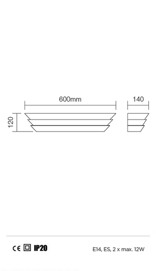 Redo Calypso 01-762 modern fali lámpa / Redo / lámpák