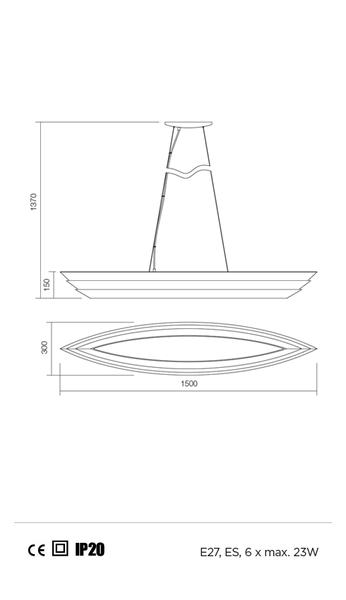 Redo Calypso 01-765 modern függeszték  / Redo / lámpák