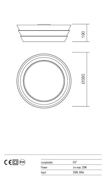 Redo Calypso 01-926 modern mennyezeti lámpa  / Redo / lámpák