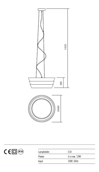 Redo Calypso 01-927 modern függeszték  / Redo / lámpák