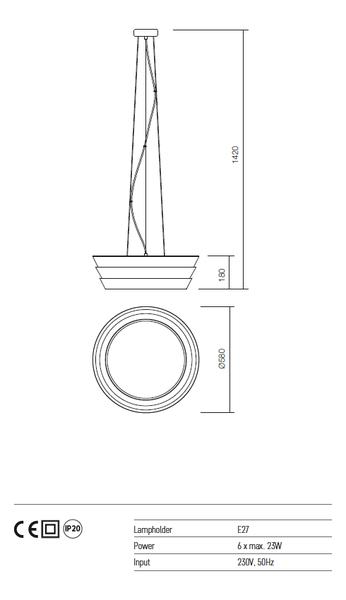 Redo Calypso 01-928 modern függeszték  / Redo / lámpák