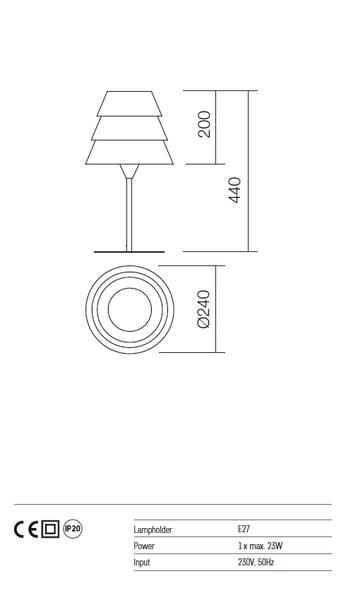 Redo Calypso 01-929 modern asztali lámpa  / Redo / lámpák