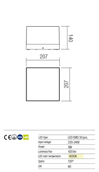 Redo Cube 9446 kültéri modern fali / mennyezeti / Redo / lámpák