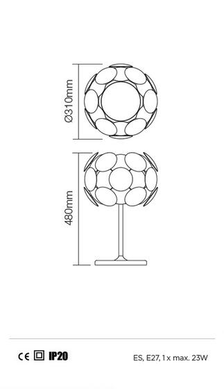 Redo Joy 01-731 modern asztali lámpa / Redo / lámpák