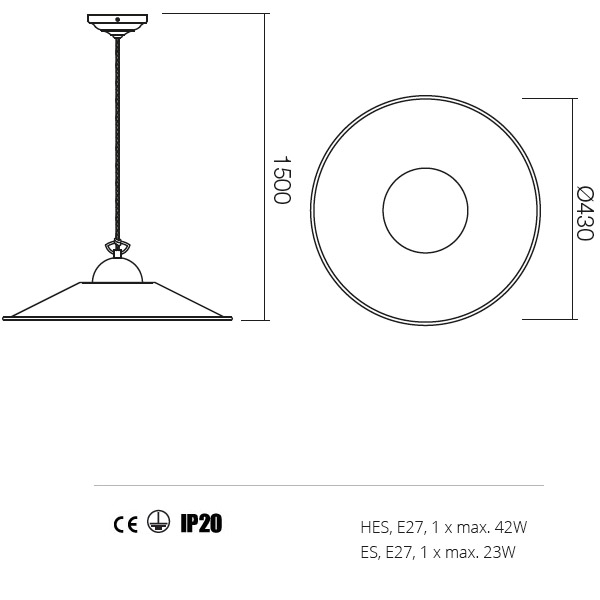 Incanti Lea 02-803+M43AB rusztikus függeszték