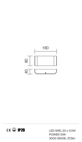 Redo Ledy 01-753 modern fali lámpa / Redo / lámpák