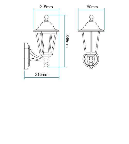 Redo London 6101N kültéri klasszikus fali kar / Redo / lámpák