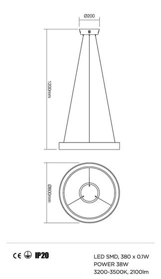 Redo Loop 01-672 modern függeszték / Redo / lámpák