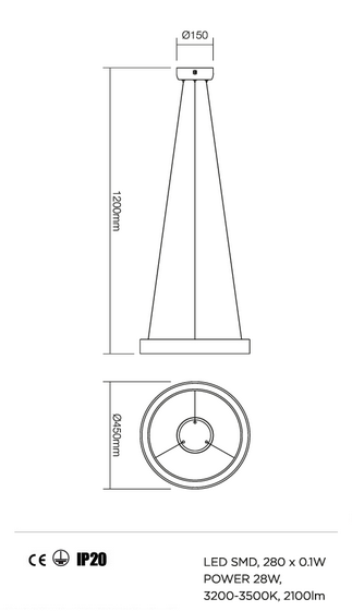 Redo Loop 01-823 modern függeszték / Redo / lámpák
