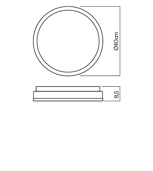 Redo Moon 01-542 modern fürdőszobai mennyezeti lámpa / Redo / lámpák