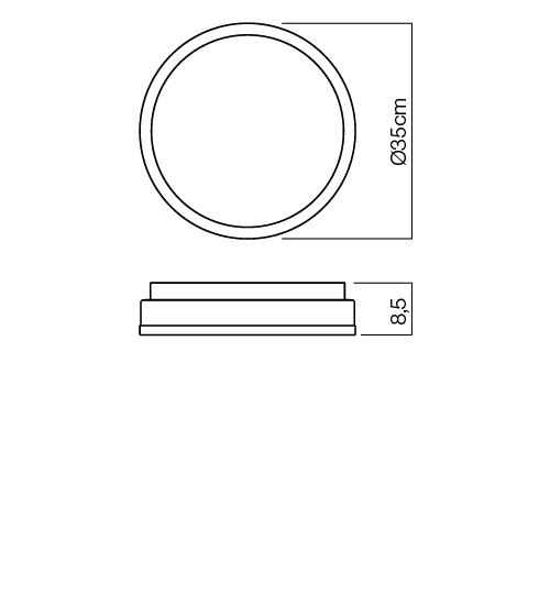 Redo Moon 01-543 modern fürdőszobai mennyezeti lámpa / Redo / lámpák