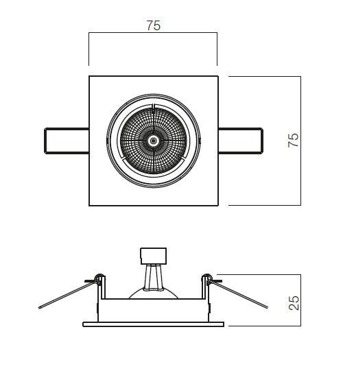 Redo MT 122 70331 modern beépíthető spot lámpa / Redo / lámpák