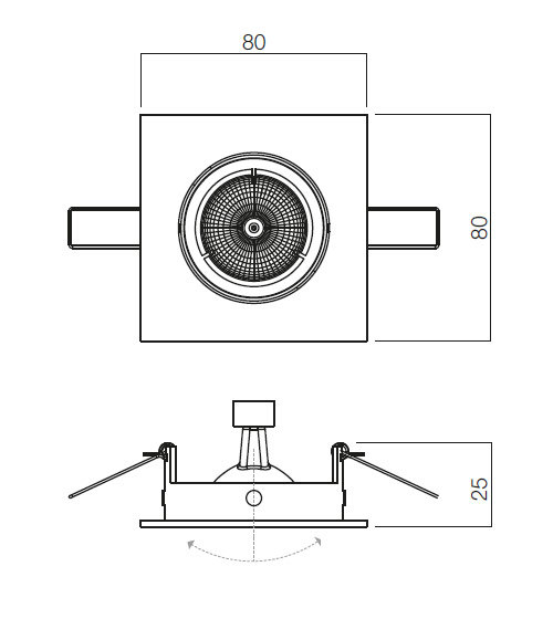Redo MT 123 70335 modern beépíthető spot lámpa / Redo / lámpák