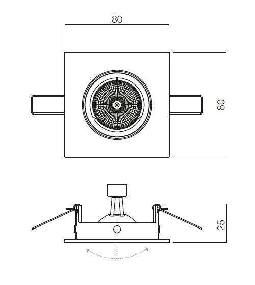 Redo MT 123 70341 modern beépíthető spot lámpa / Redo / lámpák