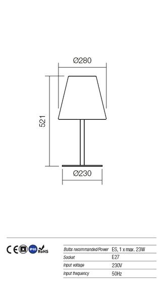 Redo Pino 9677 kültéri modern asztali lámpa / Redo / lámpák