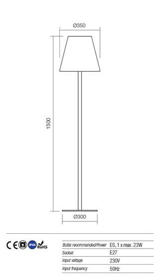 Redo Pino 9678 kültéri modern állólámpa / Redo / lámpák