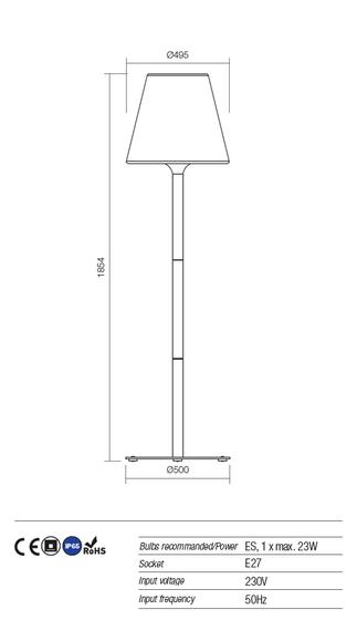 Redo Pino 9679 kültéri modern állólámpa / Redo / lámpák
