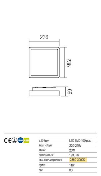 Redo Stage 9889 kültéri modern mennyezeti lámpa  / Redo / lámpák