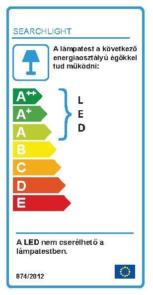 Searchlight Outdoor  8744BK LED kültéri fali lámpa