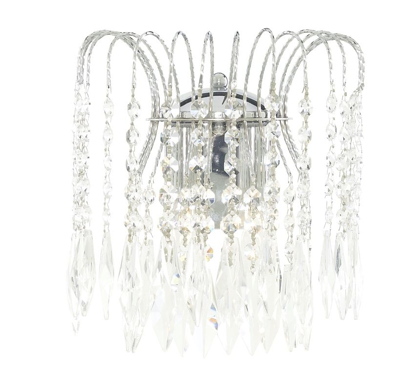 Searchlight Waterfall 4172-2 kristály fali lámpa