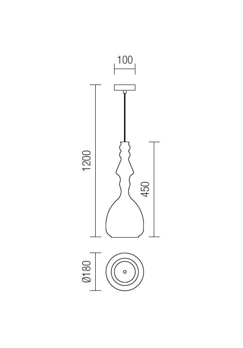 Redo Ambix 01-1083 modern függeszték / Redo / lámpák