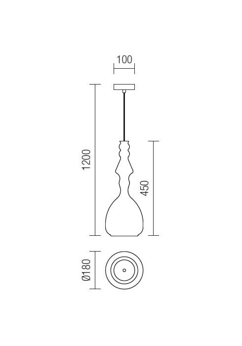 Redo Ambix 01-1084 modern függeszték / Redo / lámpák