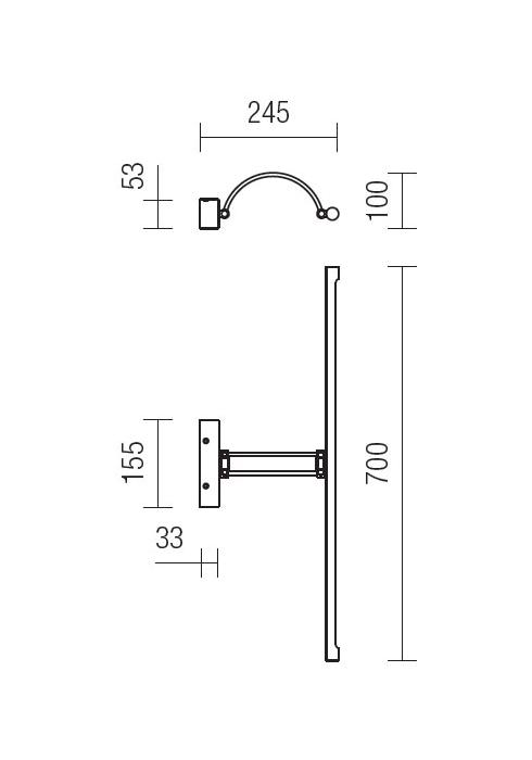 Redo Ikon 01-458 modern képmegvilágító lámpa / Redo / lámpák