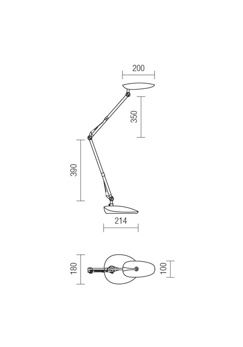 Redo Kepler 01-1036 modern asztali lámpa / Redo / lámpák