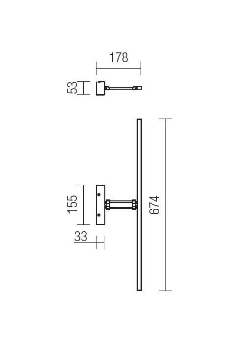 Redo Linear 01-453 modern képmegvilágító lámpa / Redo / lámpák
