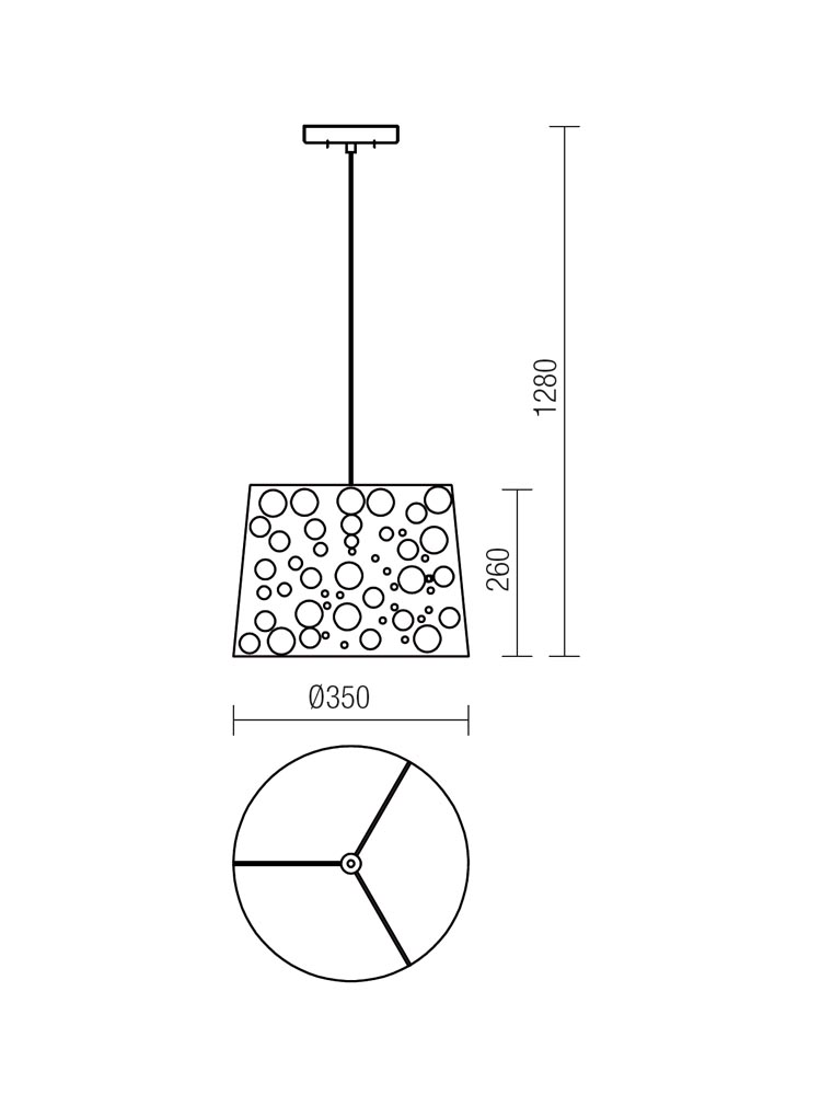 Redo DOTS 01-1016 modern függeszték / Redo / lámpák