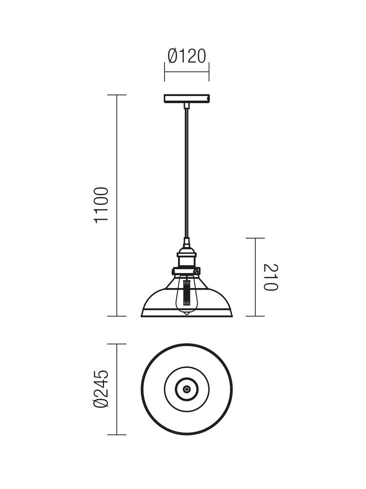 Redo SAVILLE 01-1002 klasszikus függeszték / Redo / lámpák