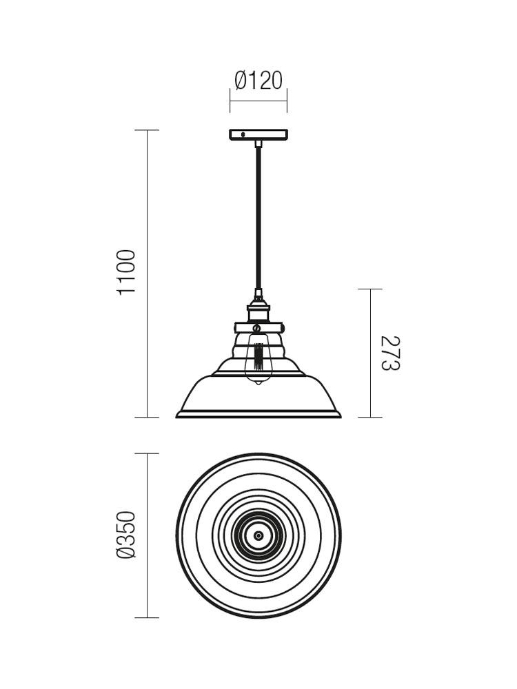Redo SAVILLE 01-1003 klasszikus függeszték / Redo / lámpák