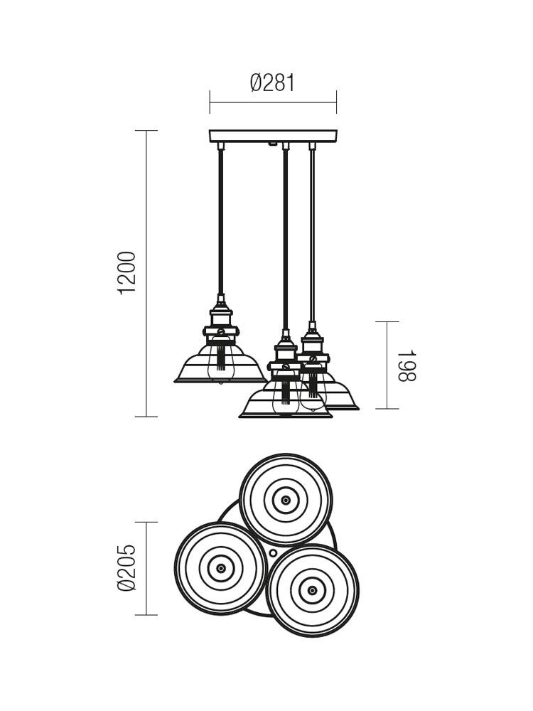 Redo SAVILLE 01-1004 klasszikus csillár / Redo / lámpák