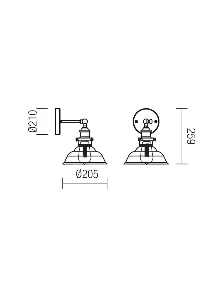 Redo SAVILLE 01-1026 klasszikus fali kar / Redo / lámpák