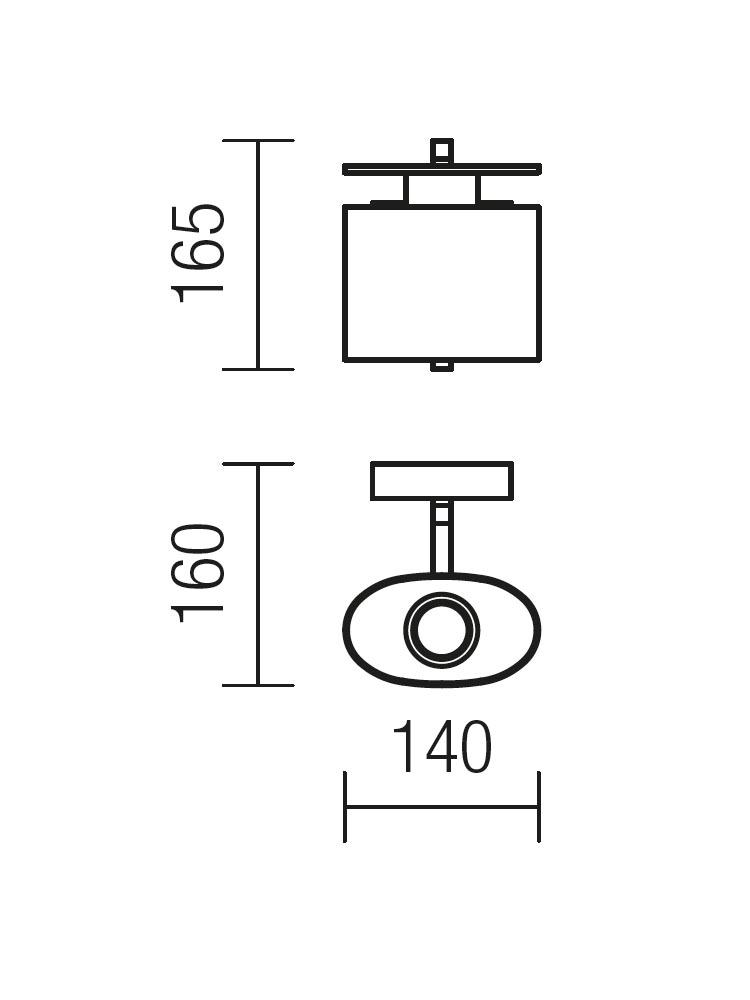 Redo SHAPE 01-1027 modern fali kar / Redo / lámpák