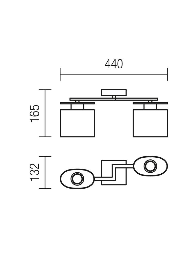 Redo SHAPE 01-1028 modern mennyezeti lámpa / Redo / lámpák