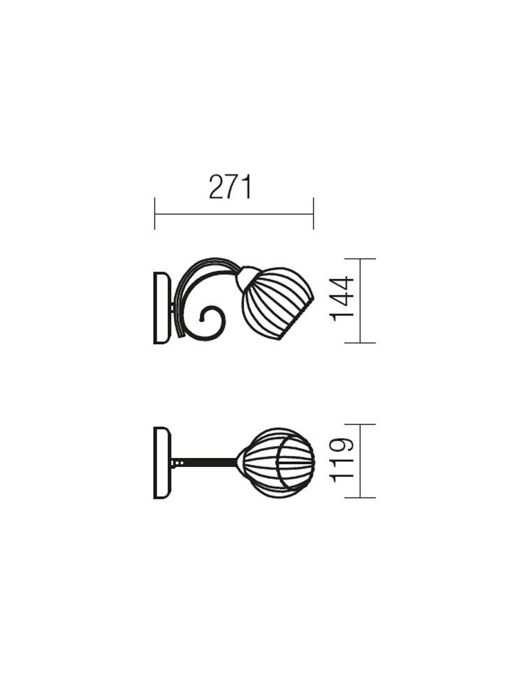 Redo JENNIFER 02-738 klasszikus fali kar / Redo / lámpák
