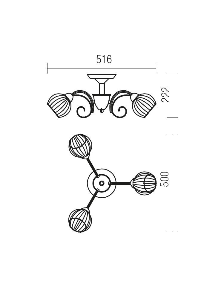 Redo JENNIFER 02-739 klasszikus mennyezeti lámpa / Redo / lámpák