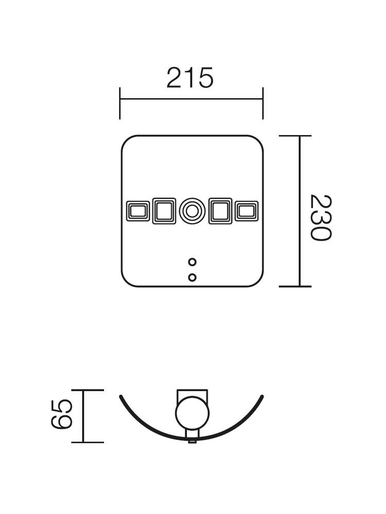 Redo MIRUNA 05-667 modern fali lámpa / Redo / lámpák