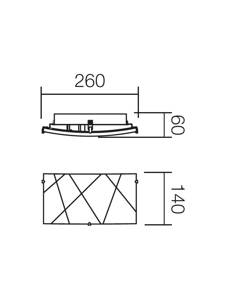 Redo SELENE 05-565 klasszikus fali kar/ Redo / lámpák