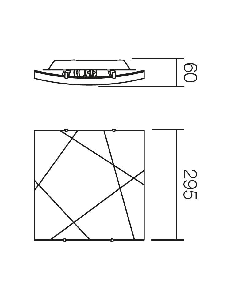 Redo SELENE 05-567 klasszikus mennyezeti lámpa / Redo / lámpák