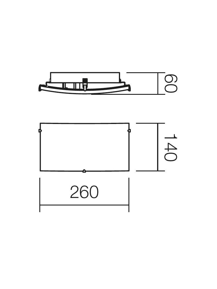 Redo SHAKE 05-811 klasszikus fali kar / Redo / lámpák