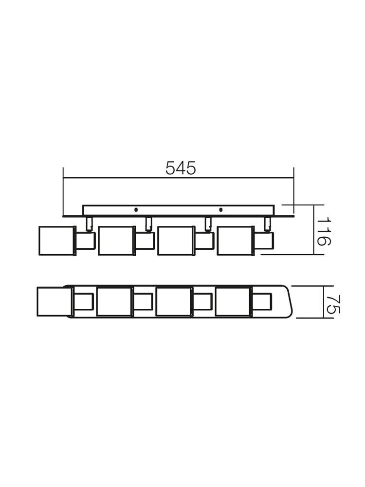 Redo PAVO 04-312 modern spot mennyezeti lámpa / Redo / lámpák