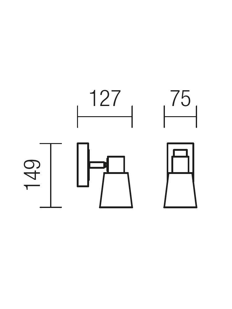 Redo TOM 04-436 modern spot fali kar / Redo / lámpák