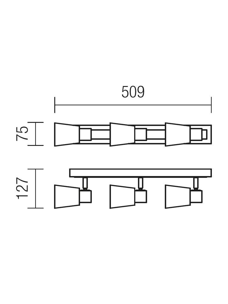 Redo TOM 04-438 modern spot mennyezeti lámpa / Redo / lámpák