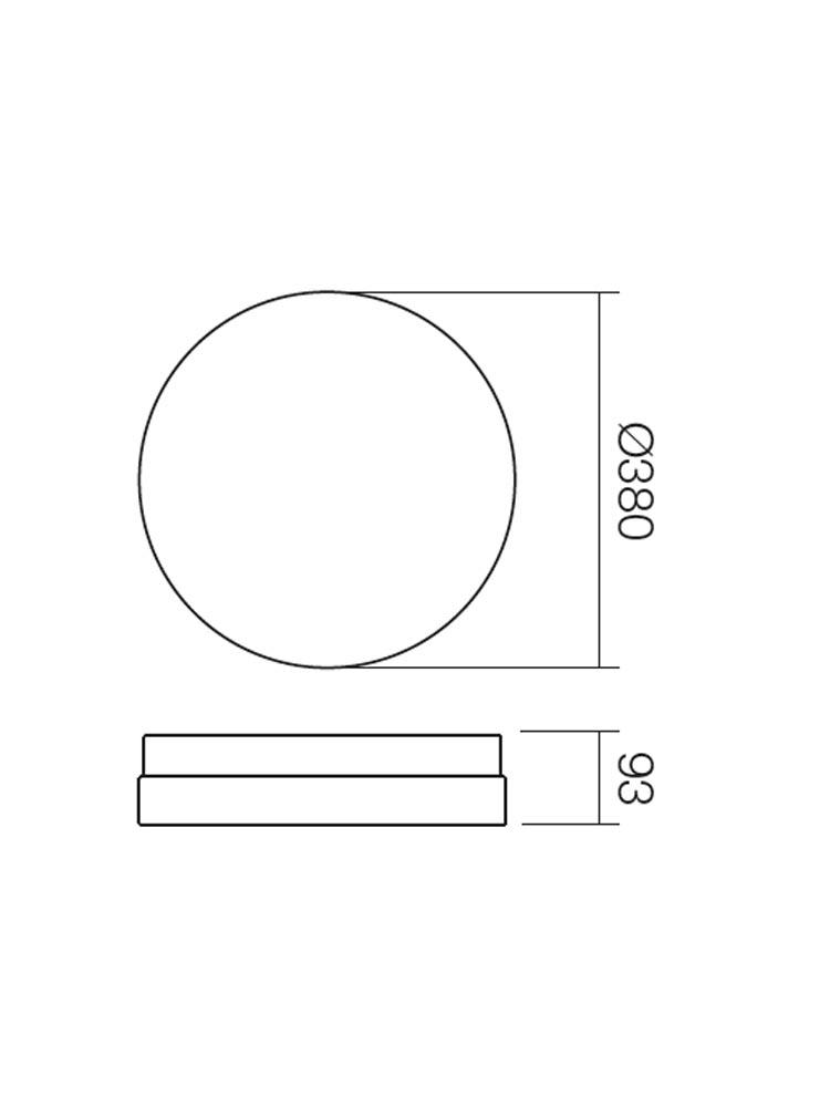 Redo TEO 01-401 modern fürdőszobai mennyezeti lámpa / Redo / lámpák