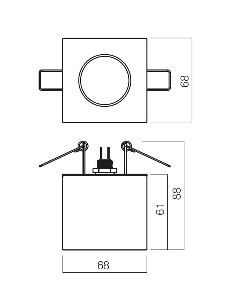 Redo CR 20 70222 modern beépíthető spot lámpa / Redo / lámpák