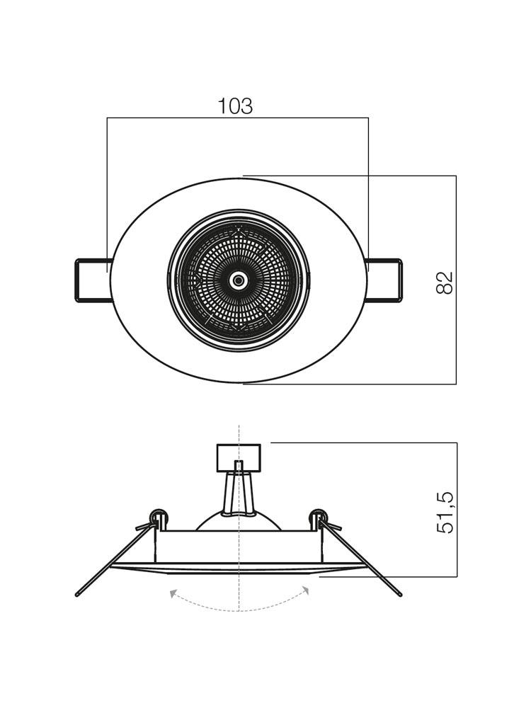 Redo ELC 104 CH 70058 modern beépíthető spot lámpa / Redo / lámpák