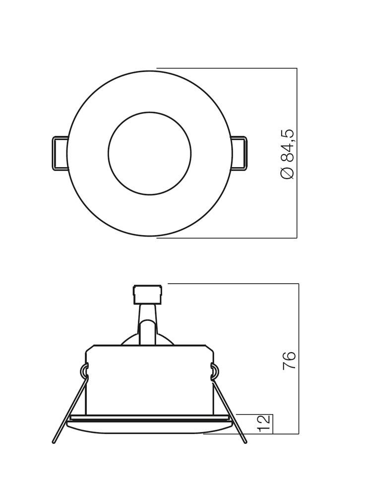 Redo ELC 1101 70124 modern beépíthető spot lámpa / Redo / lámpák